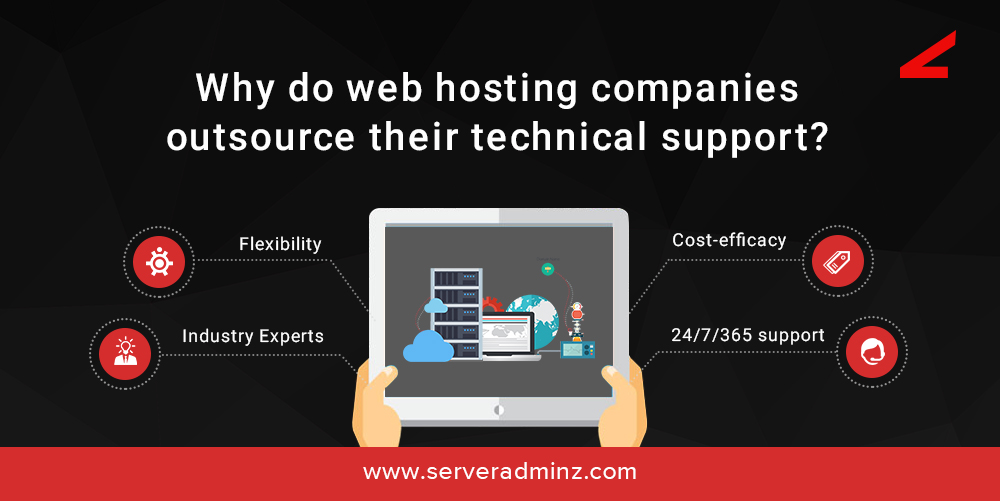 Why do web hosting companies outsource their technical support