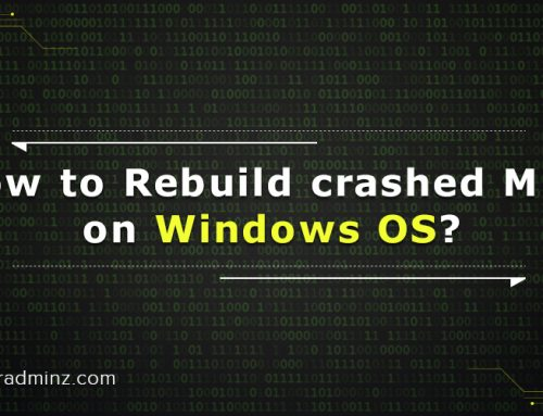 Rebuilding of crashed MBR on Windows OS