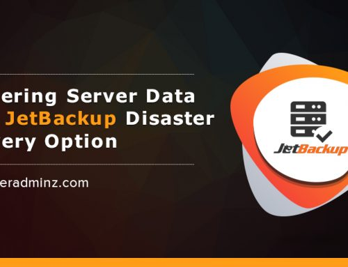How To Recover Server Data Using JetBackup Disaster Recovery Option?