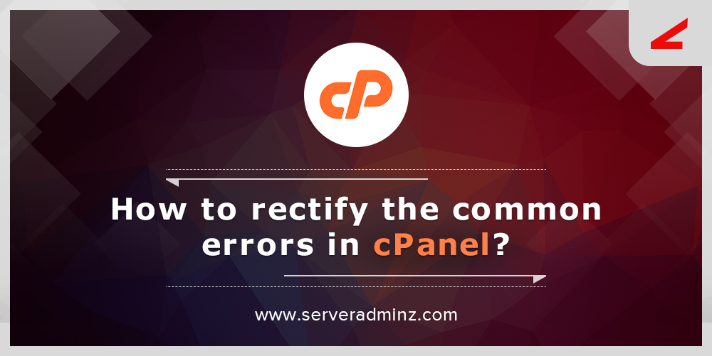 How to rectify cPanel errors