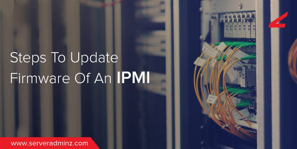 What are the steps to update the firmware of an IPMI