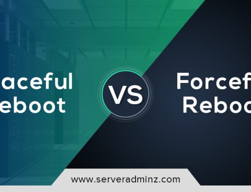 What are the difference between graceful reboot and forceful reboot?