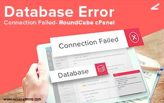 Database Error Connection Failed
