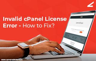 Invalid cPanel License