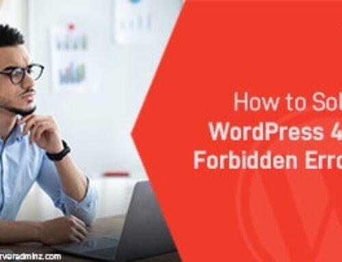 How To Solve 403 Forbidden Error in WordPress